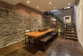 Kitchen:Rustic Kitchen With Wooden Cabinet And Exposed Brick Wall Amazing  Exposed Brick And Stone