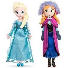 Búp Bê Nhồi Bông Hình Công Chúa Elsa & Anna   Búp bê