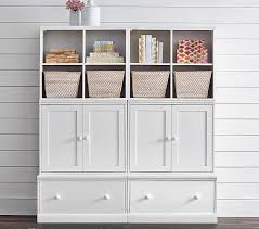 cameron small space with drawer bases storage wall system pottery barn kids