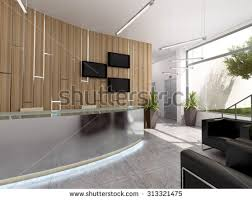 office reception area. plain reception 3d rendering of an office recepcion interior design for office reception area n