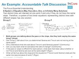 40 an example accountable talk discussion the focus essential understanding a system of equations may have