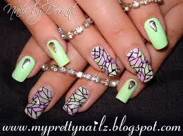 Stained Glass Nail Art Design with Easy DIY Sponge Gradient and ...