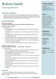 Catering Director Resume Samples QwikResume Unique Catering Resume