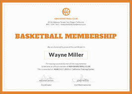 9 Best Of Basketball Certificate Templates Free Lovely Basketball