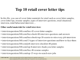 top 10 retail cover letter tips in this file you can ref cover letter materials retail covering letter