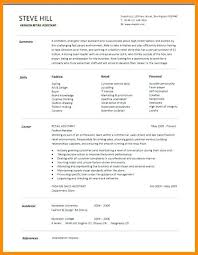 Cv Sales Assistant Template For Fashion Retail Example Cv Free Pic 1