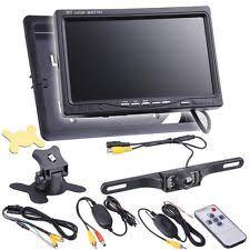 lcd monitor 7 tft lcd car rear view backup monitor wireless parking night vision camera kit