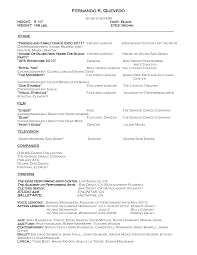 Dance Resume Template Berathen Com