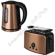 Matching Kitchen Appliances Details About Tkg Design Copper Set 17l Kettle 2 Slice Toaster