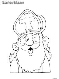 Kleurplaat Gezicht Peuters Sinterklaas Kleurplaten Sinterklaas En