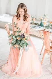 peach wedding dress. Peach and Copper Wedding Inspiration Pinterest Peach weddings