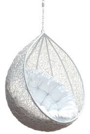 17 Best Ideas About Hanging Egg Chair On Pinterest | Outdoor ... Hanging  Chair Rattan Egg White Half Teardrop Wicker Hanging Chair Having White Puff  Comfy ...