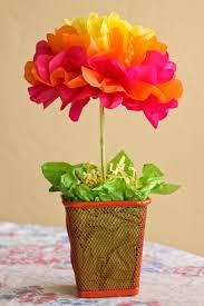 tissue paper flower centerpiece ideas one crafty mama easy tissue paper flower centerpieces tutorial
