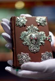 leather bound jewelled mcript of the tales of beedle the bard