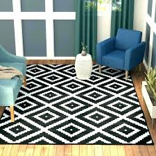 black rug white area s striped