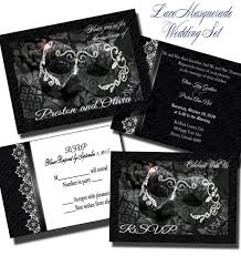 Masquerade Wedding Invites Lace Masquerade Wedding Invitation Set Wedding Invitation Etsy
