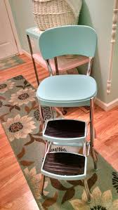 Decorative Step Stools Kitchen Vintage Restored Cosco Kitchen Step Stool Retro Mint Green White