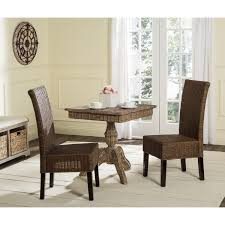 safavieh rural woven dining arjun brown multi wicker dining chairs set of 2