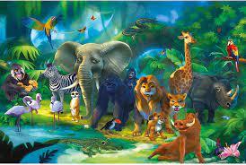 Buy Photo Wallpaper – Jungle Animals ...