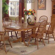 oak dining room captain chairs