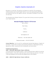 doc 694926 cv format teacher curriculum vitae format teaching cv english teacher resume for english teacher in resume cv format teacher