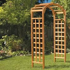 arbor garden. Greenstone Garden Wood Arbor Reviews Wayfair
