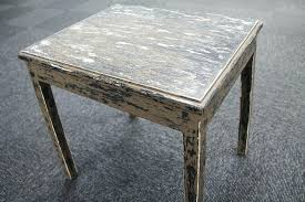 distressed coffee table animal print side wood and end tables
