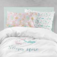 stylish mermaid bedding pink aqua bedding mermaid girl room ocean mermaid bedding set ideas