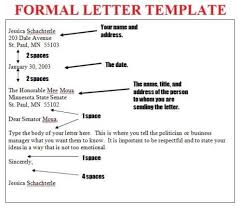 Formal Letter English English Letter Format Template Copy Writing In Formal Letters Font