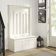 white entryway furniture. Hall Tree With Storage Bench Coat Rack White Entryway Furniture Alcott Wood New Whatu0027s It Worth A