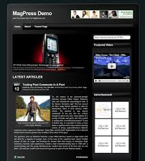 Website Templates Wordpress Beauteous Free WordPress Theme Cellular MagPress