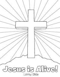 Preschool Bible Easter Coloring Pages The Color Panda