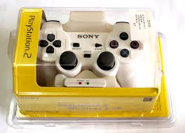 sony playstation 2 controller. ps2 playstation 2 dualshock wireless 2.4g controller - white sony l