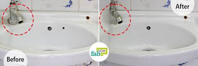 is another powerful ing that can be used to clean porcelain or ceramic sinks mix it with dish soap and water and use it like a regular cleaner