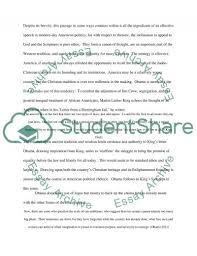 critique of a political speech of barack obama essay  barack obama essay example text preview