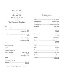 program template for wedding free sample wedding programs templates 10 wedding program templates