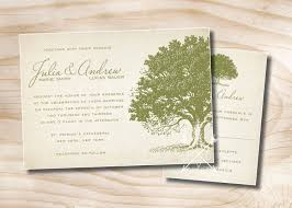 Alia Designs Invitations Vintage Oak Tree Rustic Wedding Invitation Response Card