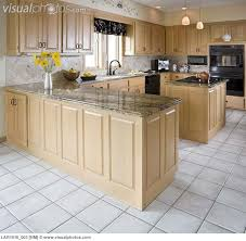 Interesting Kitchen Floor Tiles With Light Cabinets Maple And Dark Countertops On Inspiration