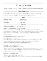 Vida Verde Nature Education Farm & Facilities Manager Resume Sample ...