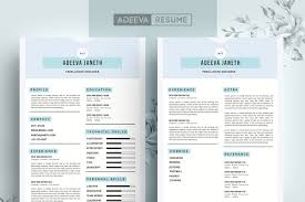 Simple Resume Template Janeth Resume Templates Creative Market