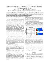 Emi Emc Standards For Pcb Design Pdf Optimizing Power Converter Pcb Magnetic Design For