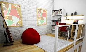 interior design furniture minimalism industrial design. Dewi Estining Rahayu Semi Industrial-Minimalist Mezzanine Bedroom Bandung Upstair-Mezzanine 28412 Interior Design Furniture Minimalism Industrial