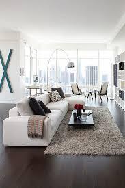 Modern Central Park Condo In Manhattan: One Beacon Court. Modern Living Room  ...