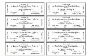 Microsoft Word Ticket Templates Free Event Ticket Template Unique Event Ticket Templates Microsoft
