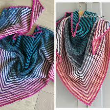 Easy Crochet Shawl Pattern Triangle