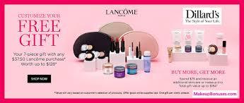 dillard s free bonus gifts from lancôme