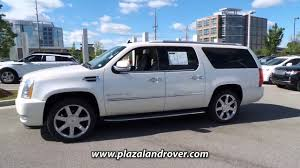 used 2016 cadillac escalade esv luxury at plaza land rover jaguar dr143796
