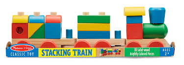 melissa doug wooden stacking train