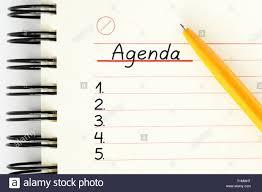 Agenda List Blank Agenda List Handwritten On Notebook Page Next To