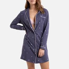 <b>Пижама</b> в горошек из джерси 100% хлопок серый/ наб. рисунок ...